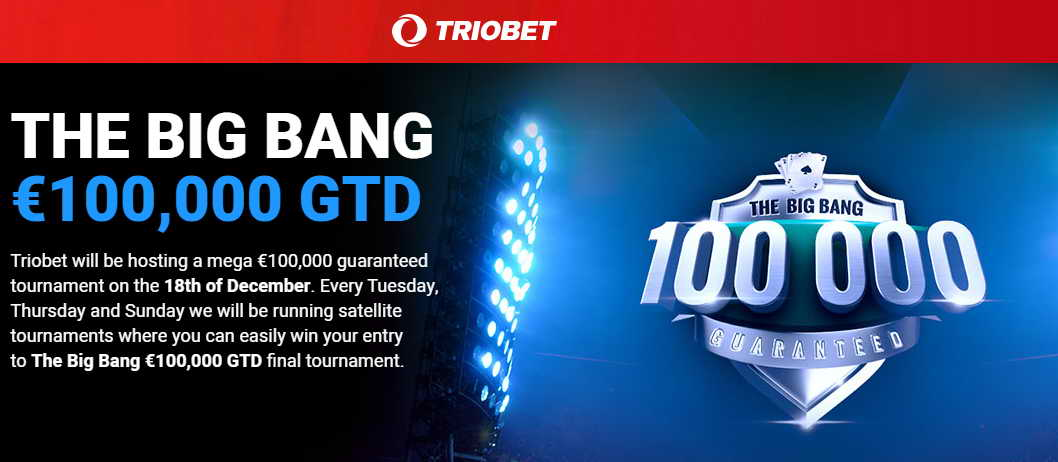Mega tournament guaranteed prize 100000 €
