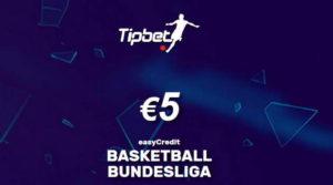 No deposit 5 EUR Tipbet